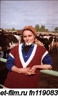 Milkmaid of the Zainsky district of the Republic of Tatarstan.