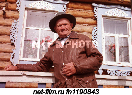 A resident of the Zainsky district of the Republic of Tatarstan at his home.