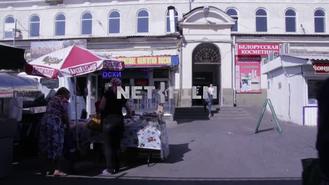 The Russian market in the summer. Market, Russia, shopping, store Market, South, signs, summer,...