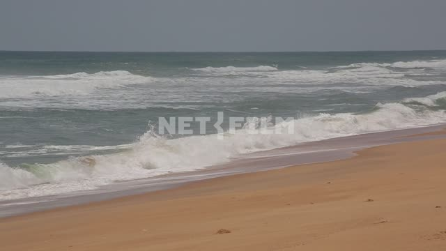 Ocean surf, sandy beach of Africa Africa, sandy beach, surf, Atlantic