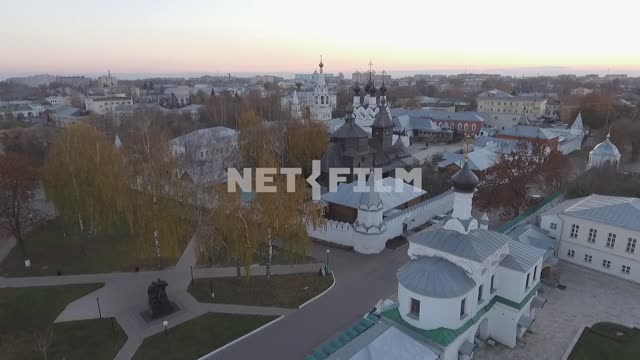 Shooting from above, an aerial survey of monasteries in the city of Murom and surrounding...