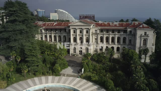 Sanatoriy im. Ordzhonikidze - a monument of architecture of Sochi, not maintained building Russia,...
