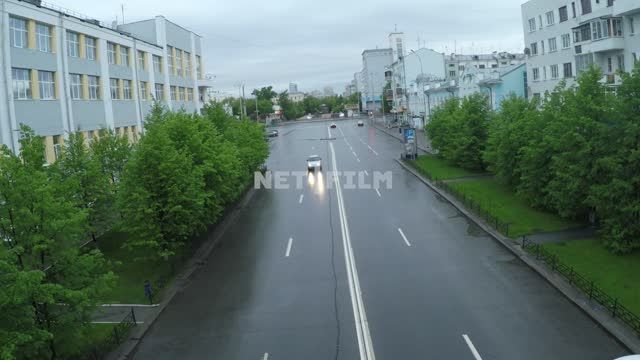 Deserted streets of Yekaterinburg during a pandemic 2020. Russia, Yekaterinburg, city, - isolation,...