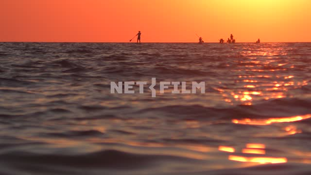 Surfers on the sea horizon Sea, nature, summer, landscapes, seashore, wave, sun, beach, resort,...