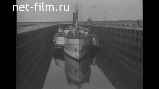 Footage Stalin on the White Sea-Baltic Canal. (1933)