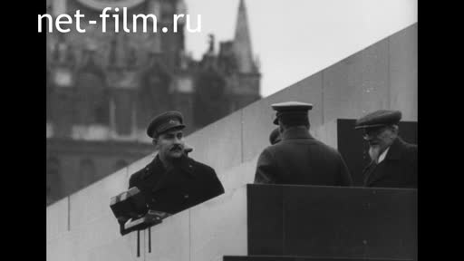 Footage 21st anniversary of October. (1938)