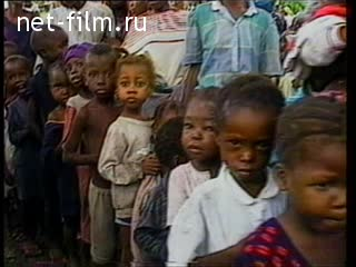 Footage African children. (1990 - 1999)