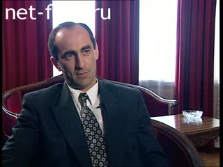 Footage Interview with Robert Kocharyan on the situation in  Nagorno-Karabakh  (2002)