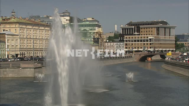 Fountains on Vodootvodny canal of the Moskva river General plan. Fountains on the Moscow...