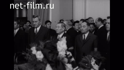 Footage The funeral of Sabit Mukanov. (1973)