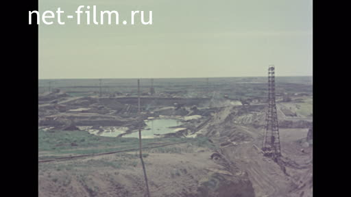 Footage Construction of the Karatomar Reservoir. (1962 - 1965)
