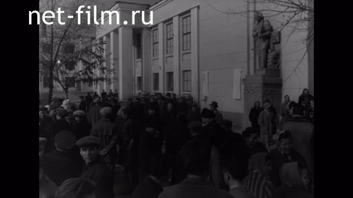 Footage Opening of memorial plaques by SM Eisenstein and VI Pudovkin. (1964)