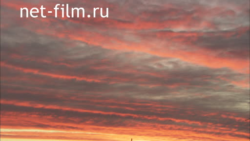 Закат. The sky Clouds The evening