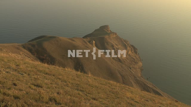 Views of the Cape and the sea. Koktebel, promontory, sea, hills, mountains.